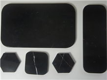 Black Marquina Marble Tray Plate