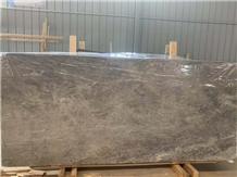 China New Grey Material Fantasy Grey Marble Slab