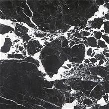 Nero Asturia Marble Slabs, Tiles