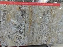 Snow Gold Granite Slabs, Tiles