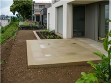 Terrace Floor Slabs from Udelfanger Sandstone