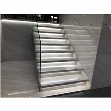 Polaris White Marble Staircase,Steps
