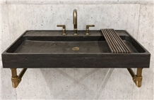 Blue Stone Basin,Bowl,Sink,Shower,Dark Honed