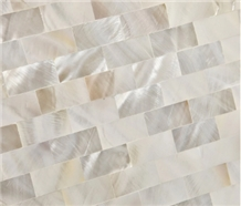 Pearl Shell Mosaic,Mother Of Pearl Shell, White