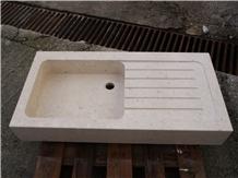 Plano Limestone Massive Stone Sink
