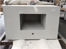 Bianco Carrara Venato Quartz Stone for Countertop