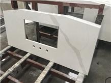 Calcatta White Quartz Kitchen Countertops