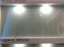 Asgard White Marble Tiles, Slabs Cut to Size