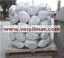 Bianco Carrara Marble Pebbles Mm. 250/400