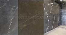 Pietra Gray Marble Tiles, Slabs, Grey Polished