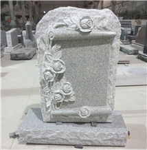 Light Grey Granite Monuments Upright Headstones 08
