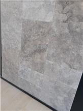 Silver Travertine Tiles, Pattern