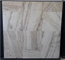 Valencia Travertine, Silver Grey-Beige Travertine Tiles