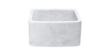 Carrara White Marble Honed Farmhouse Kitchen Sink