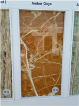 Marmaran Amber Onyx Slabs, Tiles