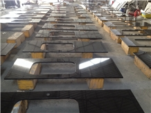 Shangxi Black Granite, Pure Black Granite Slabs