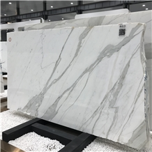 Beautiful Italy Calacatta White Marble Slab