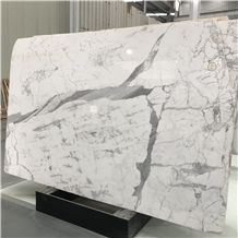 Beautiful Italy Statuario White Marble Slab
