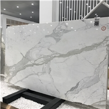 Natural Italy Calacatta White Marble Slab and Tile