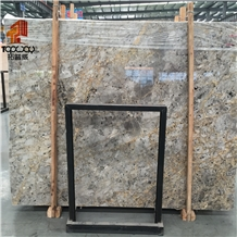 Dora Cloud Gold Beautiful Marble Slab