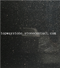 India Black Galaxy Granite with Polished