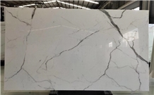 Nano Crystallized Glass Calacatta White Slab