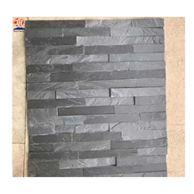 Black Slate Cultured Stone Exterior Wall Cladding