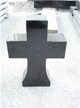Funeral Black Granite Cemetery Gravestone Crosses