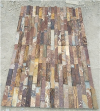 Natural Rusty Slate Stacked Stone Wall Decor Tiles