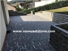 Snow Grey Jet Mist Black Granite Floor Slab Tiles