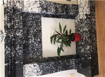 Orca Black and White Marble Custom Fireplaces