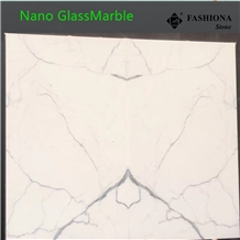 Matching Slab Nano Calacatta White Glassmarble