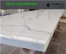 White Nano Glassmarble Kitchens,Bathrooms