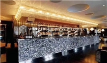 Luxury Gemstone Grey Agate Desk Countertop,Bar Top