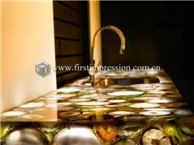 Popular Gemstone Grey Agate Countertops