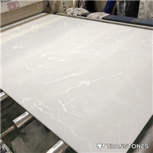 Translucent White Alabaster Wall Covering Stone
