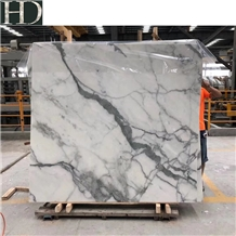 Chinese Calacatta Slabs &Tiles, White Marble