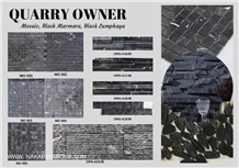 Black Marmara Marble Mosaic Tiles