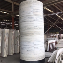 Alexander White Marble Big Stone Column Pillars