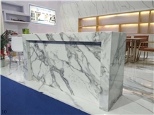 Arabescato Marble White Marble Workatop Bar Top