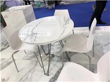 Arabescato White Marble Stone Worktop Desk Tops