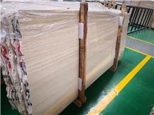 Beige Wood Vein Marble Indoor Metope Tiles & Slabs