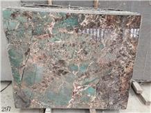 Brazil Amazon Green Quartzite Slab Tiles Walling
