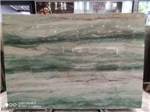 Brazil Royal Green Quartzite Slab Tiles Wall Cladding