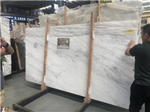California White Marble Slab Tiles Wall Cladding