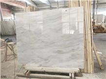 China Alice White Marble Slab Tiles Flooring Use