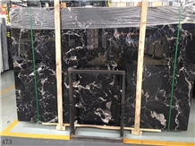 China Century Black Ice Marble Slab Walling Tiles