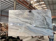 Cristalita Ocean Blue Marble Slab Tile in China