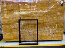 Fulvio Marble Yellow Golden Anna Marble Slab Tile