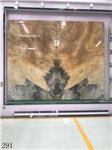 Golden Fire Marble Slab Tiles Nuvolato Etrusco